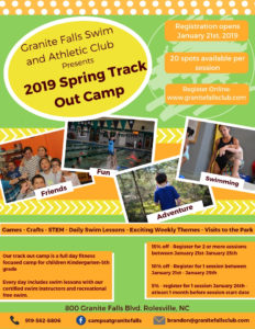 Spring Camp Registration Opens!